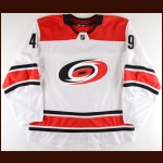 2017-18 Victor Rask Carolina Hurricanes Game Worn Jersey - Photo Match – Team Letter