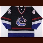 1998-99 Matt Cooke Vancouver Canucks Game Worn Jersey – Rookie