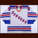 1988-89 Darren Turcotte New York Rangers Game Worn Jersey – Rookie - Team Letter