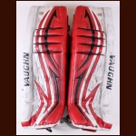 Dan McWhinney Huntville Havoc Red & White Vaughn Game Worn Pads