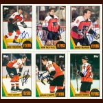 1987-88 Topps & OPC Philadelphia Flyers Autographed Card Group of 26 – Peter Zezel & Brad McCrimmon