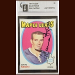 1971-72 Topps Dave Keon Toronto Maple Leafs Autographed Card – GIA Certified