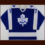 1980's St. Catharines Saints Game Worn Jersey – Player #17