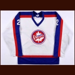 Early 1980's Jim Burton Windsor Spitfires Game Worn Jersey