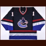 2002 Peter Skudra Vancouver Canucks Game Worn Jersey