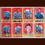 1972-73 Autographed Pittsburgh Penguins Card Group of 8