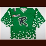 1999-00 Trevor Senn Richmond Renegades Game Worn Jersey – St. Patty's Day Alternate