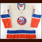 1973-74 Denis Potvin New York Islanders Game Worn Jersey – Rookie - Calder Trophy - All Star Season - Photo Match