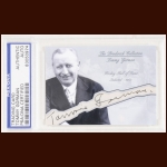 Tommy Gorman Autographed Card - The Broderick Collection - Deceased
