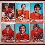 1974-75 OPC Autographed Atlanta Flames group of 6