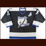 2000-01 Pavel Kubina Tampa Bay Lightning Game Worn Jersey - Photo Match – Team Letter