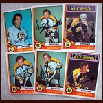 1974-75 OPC Autographed Bruins group of 6