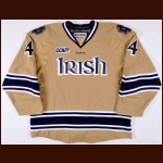 2011-12 Riley Sheahan Notre Dame Fighting Irish Game Worn Jersey - Photo Match