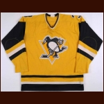 1981-82 Ron Stackhouse Pittsburgh Penguins Game Worn Jersey - Sunday Gold Alternate