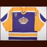 2003-04 Esa Pirnes Los Angeles Kings Game Worn Jersey - Vintage Alternate – Rookie - Photo Match – Team Letter
