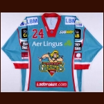2010-11 Doug Christiansen Belfast Giants Game Issued Jersey – Elite League Letter