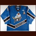 2000-01 Jason Jaffray Kootenay Ice Game Worn Jersey