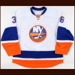 2010-11 Travis Hamonic New York Islanders Game Worn Jersey – Rookie - Photo Match – Team Letter