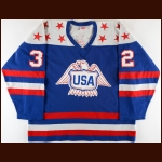 1976 Doug Palazzari Team USA Canada Cup Game Worn Jersey