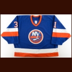 1988-89 Billy Smith New York Islanders Game Worn Jersey – The Terrence Murphy Collection – Joe Murphy Letter