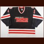 1990-91 Mark Cardiff Niagara Falls Thunder Game Worn Jersey – Rookie