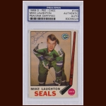 Mike Laughton 1969 OPC – Oakland Seals – Autographed – PSA/DNA