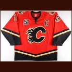 "2005-06 Jarome Iginla Calgary Flames Game Worn Jersey – ""25-year Anniversary"" - Photo Match"