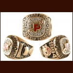 1993-94 W. Godfrey Wood Portland Pirates Calder Cup Championship Ring – Inaugural Season - 10k – Real Diamonds - The W. Godfrey Collection - W. Godfrey Wood Letter