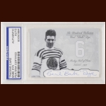 "Cecil ""Babe"" Dye Autographed Card - The Broderick Collection - Deceased"
