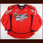 2009-10 Cam Fowler Windsor Spitfires Game Worn Jersey - Memorial Cup - Championship Season