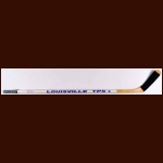 Dale Hawerchuk Winnipeg Jets White Louisville Game Used Stick - Autographed