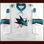 2018-19 Brent Burns San Jose Sharks Game Worn Jersey - 1st Team NHL All Star - Photo Match