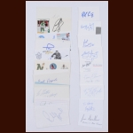 Index Card & Business Card Hall of Fame Autographed Group of 27 – Wayne Gretzky – The Broderick Collection