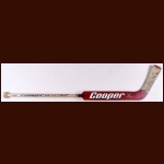 Dwayne Roloson Calgary Flames Red Cooper Game Used Stick