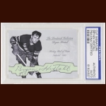 Bryan Hextall Autographed Card - The Broderick Collection - Deceased