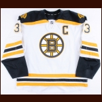2014-15 Zdena Chara Boston Bruins Game Worn Jersey - Photo Match – Team Letter