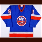 1982-83 Butch Goring New York Islanders Game Worn Jersey - Stanley Cup Season