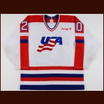 1988 Allen Bourbeau Team USA Olympics Game Worn Jersey