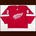 2002-03 Chris Chelios Detroit Red Wings Game Worn Jersey - Team Letter