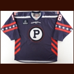 2017-18 Kenny Agostino Providence Bruins Game Worn Jersey – Military Jersey – Team Letter