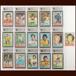1974-75 Topps Autographed Card Group of (16) – Most GAI Certified – Includes Hall of Famers and Deceased