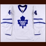 2008-09 Ryan Hollweg Toronto Maple Leafs Game Worn Jersey – Team Letter