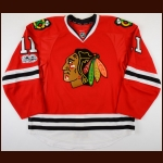 2016-17 Andrew Desjardins Chicago Blackhawks Game Worn Jersey - Photo Match – Team Letter