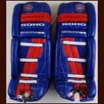 Patrick Roy Montreal Canadiens Red, White & Blue Koho Game Worn Pads