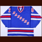 1995-96 Joe Kocur New York Rangers Game Worn Jersey