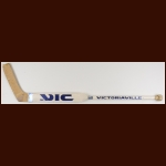 Kelly Hrudey New York Islanders White Victoriaville Game Used Stick – Autographed