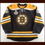 "2010-11 Daniel Paille Boston Bruins Stanley Cup Finals Game Worn Jersey – ""2011 Stanley Cup Finals"" – Photo Match – Team Letter"