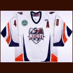2010-11Shawn Collymore Ontario Reign Game Worn Jersey – ECHL Letter