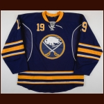 2014-15 Cody Hodgson Buffalo Sabres Game Worn Jersey - Photo Match – Team Letter