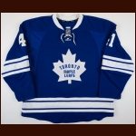 2011-12 Nikolai Kulemin Toronto Maple Leafs Game Worn Jersey – Alternate - Photo Match – Team Letter